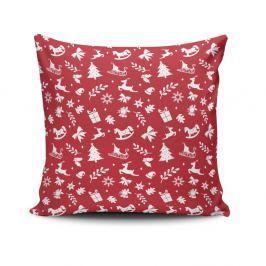 Polštář Red&White Xmas Pattern, 45x45 cm