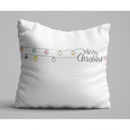 Bílý polštář Christmas Lights, 45x45 cm