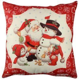 Polštář Snowman and Santa, 43x43cm