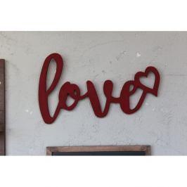 Nástěnná dekorace Love, 42x 25 cm