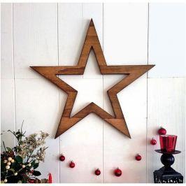 Vánoční nástěnná dekorace Hello Star, 62x1,8x62 cm