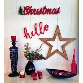 Vánoční nástěnná dekorace Christmas Star, 69x2x15 cm