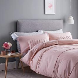 Růžové povlečení Catherine Lansfield Pom Pom, 200 x 200 cm