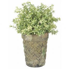 Zelenohnědý terakotový květináč Esschert Design