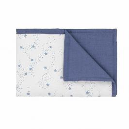 Modro-bílá dětská deka s modrými hvězdičkami Art For Kids Stars, 70x100cm