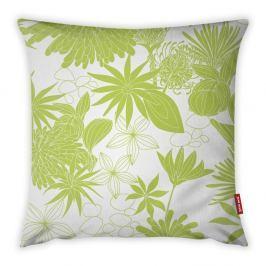 Limetkově zeleno-bílý povlak na polštář Vitaus Jungle Verde, 43 x 43 cm
