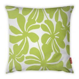 Limetkově zeleno-bílý povlak na polštář Vitaus Jungle Paradiso, 43 x 43 cm