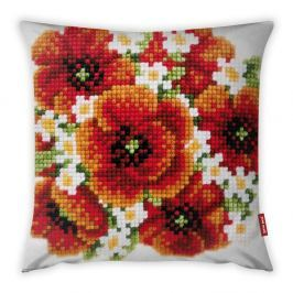 Povlak na polštář Vitaus Red Flower, 43 x 43 cm