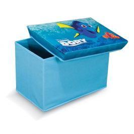 Modrá úložná taburetka na hračky Domopak Finding Dory, délka49cm