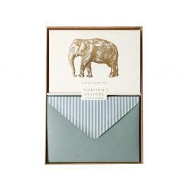 Sada 10 komplimentek s obálkami Portico Designs FOIL Big Elephant
