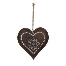 Dřevěná závěsná dekorace Antic Line Winter Time Heart Small