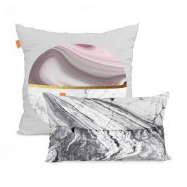 Sada 2 bavlněných povlaků na polštář Blanc Essence Marble