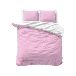 Růžové povlečení z mikroperkálu na dvoulůžko Sleeptime Twin Face, 200 x 220 cm