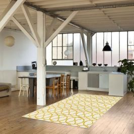 Světlý vysoce odolný koberec vhodný do exteriéru Webtappeti Interlaced, 133x190cm