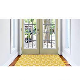 Žlutý vysoce odolný koberec vhodný do exteriéru Webtappeti Interlaced, 160x230cm