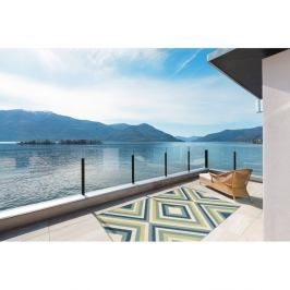Zeleno-modrý vysoce odolný koberec vhodný do exteriéru Floorita Rombi, 133x190cm