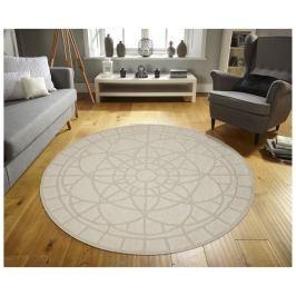 Béžový venkovní koberec Floorita Tondo, ø 194 cm