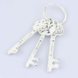 Bílé dekorativní litinové klíče Dakls