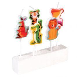Sada 5 dortových svíček Rex London Colourful Creatures