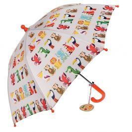 Dětský holový deštník Rex London Colourful Creatures, ⌀64cm