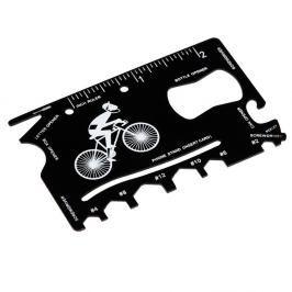 Multifunkční karta na opravu kola v koženkovém pouzdře Rex London Le Bicycle