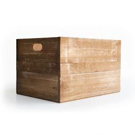 Dřevěná bedýnka z borovicového dřeva Really Nice Things, hnědá