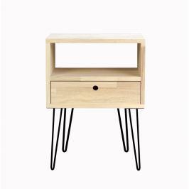 Noční stolek s bílými nohami Really Nice Things
