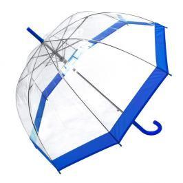 Transparentní holový deštník s modrými detaily Birdcage Border, ⌀85cm