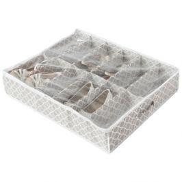 Béžový úložný box na boty pod postel Compactor, délka 76cm