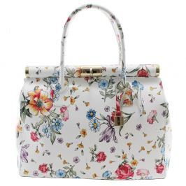 Květinová kožená kabelka Chicca Borse Daisy