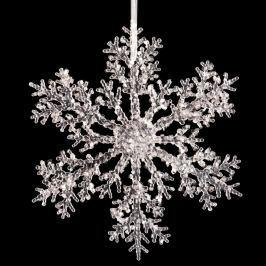 Závěsná dekorace ve tvaru sněhové vločky Unimasa Snow, ⌀30cm