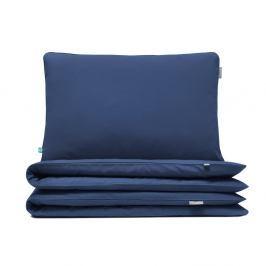Tmavě modré bavlněné povlečení na dvoulůžko Mumla, 200x200cm