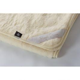 Béžová deka z merino vlny Royal Dream,90x200cm