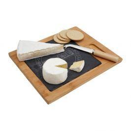 Set bambusového prkénka a nože na sýr Premier Housewares Cheese