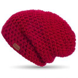 Červená ručně háčkovaná čepice DOKE Mary B