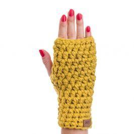 Hořčicově žluté ručně háčkované návleky DOKE Ash