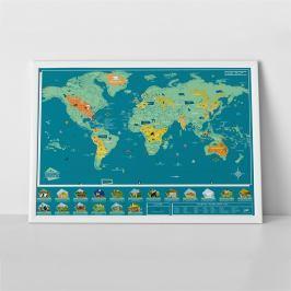 Stírací mapa světa Luckies of London Wild World