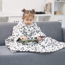Bílá dětská deka srukávy InnovaGoods Snug Symbols Kangoo