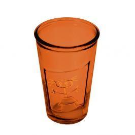 Oranžová sklenice z recyklovaného skla Ego Dekor Afrodita, 300ml