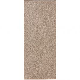 Hnědý běhoun BT Carpet Wolly, 80 x 200 cm