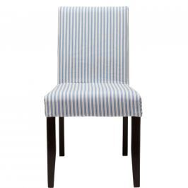 COPPERFIELD Povlak na židli proužky - modrá/bílá