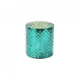 DELIGHT Svícen na čajovou svíčku 8 cm - tyrkysová