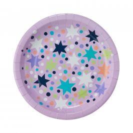 STARDUST Papírové talířky hvězdy set 10 ks