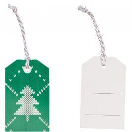 X-MAS Jmenovky vánoční stromek 6 ks