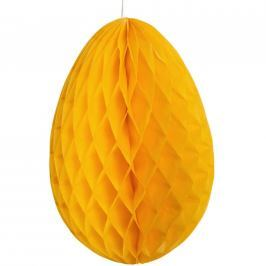 EASTER Papírová dekorační kraslice - žlutá