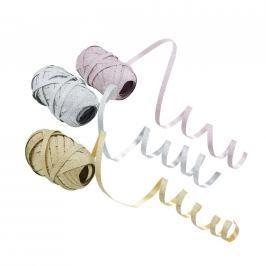 RIBBON Stužky, set 3 ks - růžová/stříbrná/zlatá