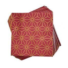 APRÉS Papírové ubrousky hvězdy Art Deco 20 ks