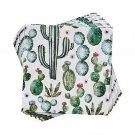 APRÈS Papírové ubrousky kaktus 20 ks