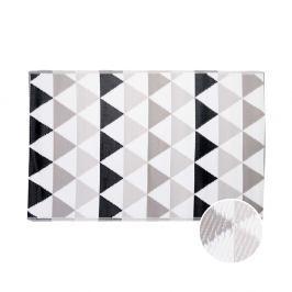 COLOUR CLASH Vnitřní a venkovní koberec trojúhelníky 180 x 120 cm - šedá