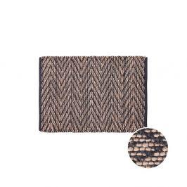 ETHNO LODGE Koberec cik cak 60 x 90 cm - přírodní/černá